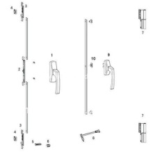 Window Hardware Aluminum Side Hung Fitting
